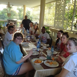Breakfast at the guest house!