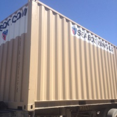The container makes it to Port au Prince!