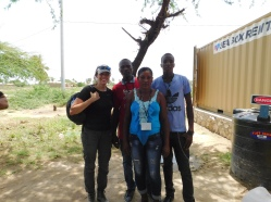 Water system operators Cesar, Nadedge and Duckens