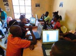 Summer computer class in Cite Soleil.