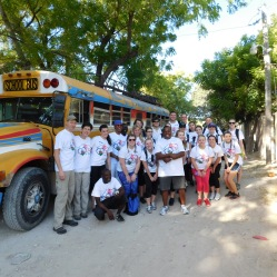 Class picture on our first morning in Haiti.