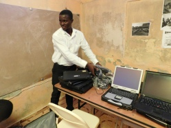 New computers for the lab in Cite Soleil.