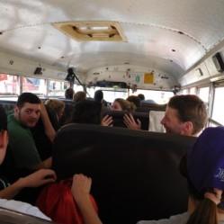 Fun on the bus.
