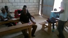 Computer literacy class for adults in Grande Saline, Haiti.